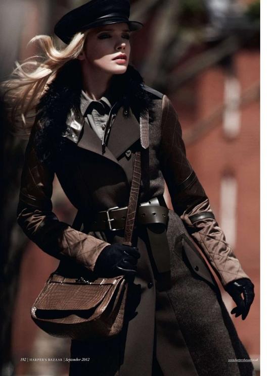 Harper's Bazaar U.K. septiembre 2012 Street Color Style