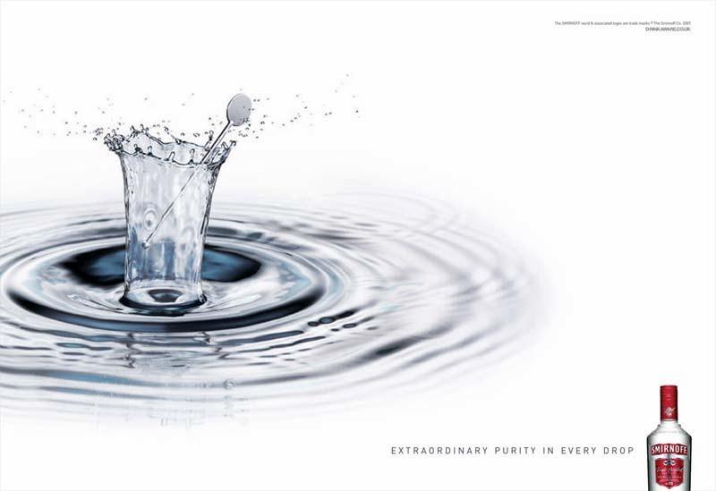 Martin Waugh, Liquid Sculpture, vodka Smirnoff