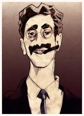 Groucho Marx illustration portrait