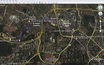 Route to Segambut Dalam Runsite