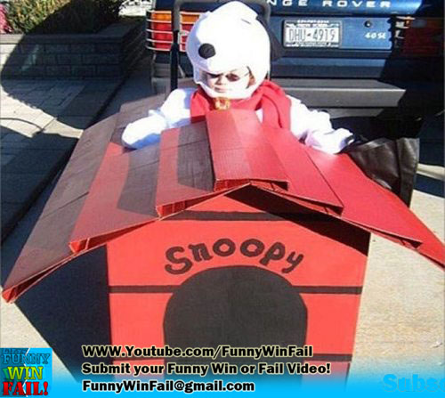 Snoopy / Charlie Brown Halloween Wheelchair Costume WIN!