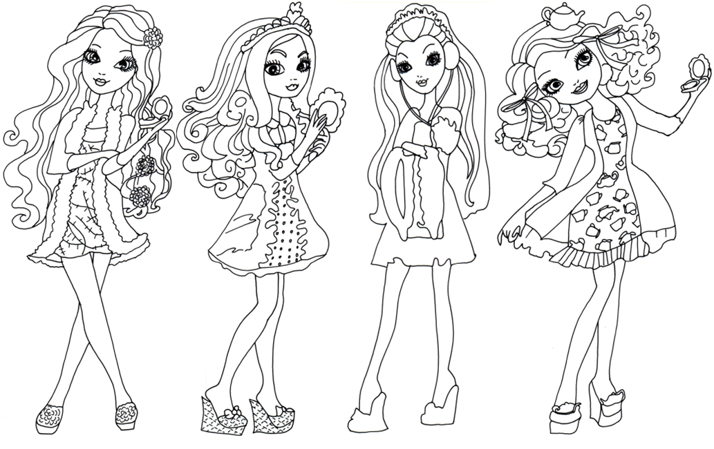Getting Fairest Ever After High Coloring Page Briar Beauty Apple White Raven Queen And Madeline Hatter