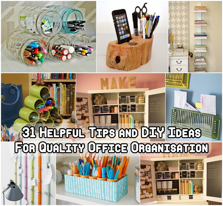 31 helpful tips and diy for the best office organization for Office organization tips and ideas