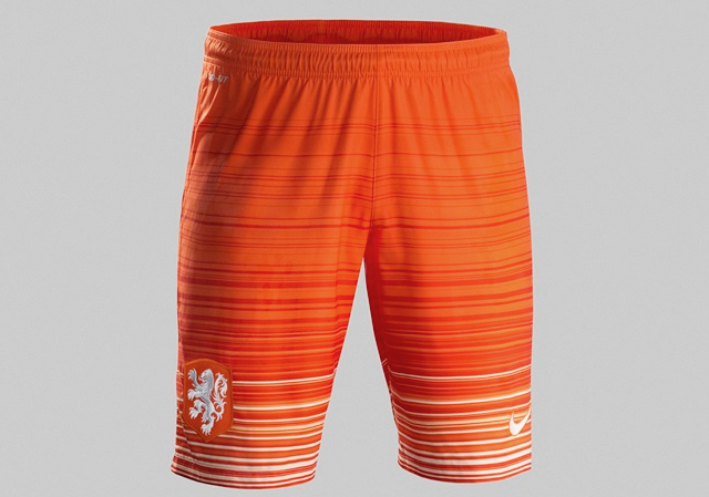 Netherlands Holland 2015 White Orange Soccer Short pants