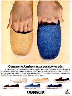 propaganda calçados Comanche - 1977