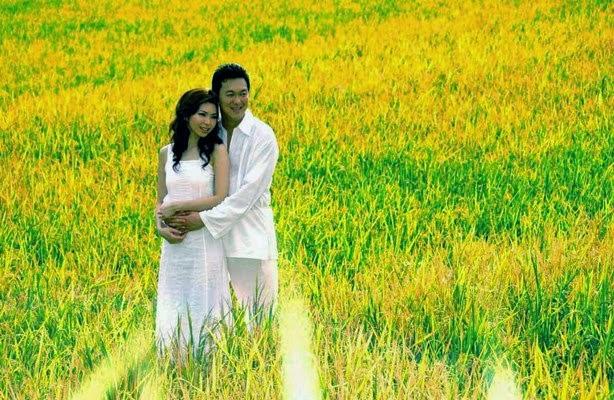 Pre Wedding dengan Background Ladang Gandum atau Padi