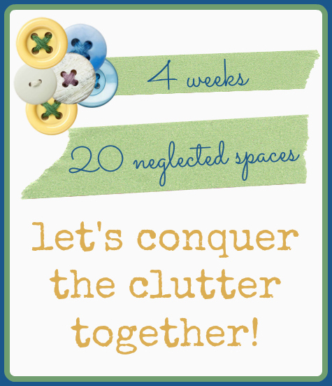 Conquer the Clutter. Let's do it together // www.aswellplacetodwell.com
