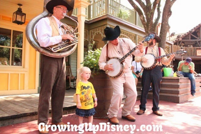 Little girl enjoying band at Walt Disney World, Growing Up Disney