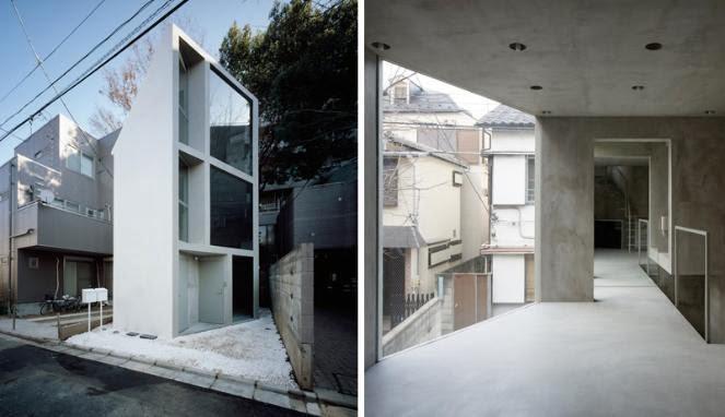 Foto Inspirasi Desain Rumah Mungil Unik Minimalis di Jepang & Desain Rumah minimalis: desain unik rumah mungil di jepang