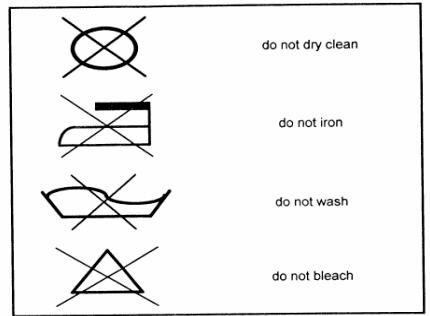 Dr House Cleaning Laundry Fabric Symbols