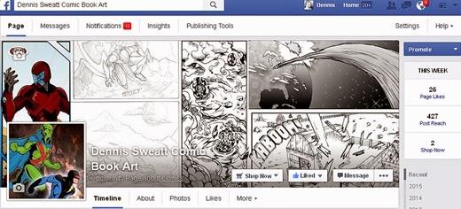 Dennis Sweatt Comic Book Creator Facebook