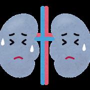 不健康な腎臓のキャラクター