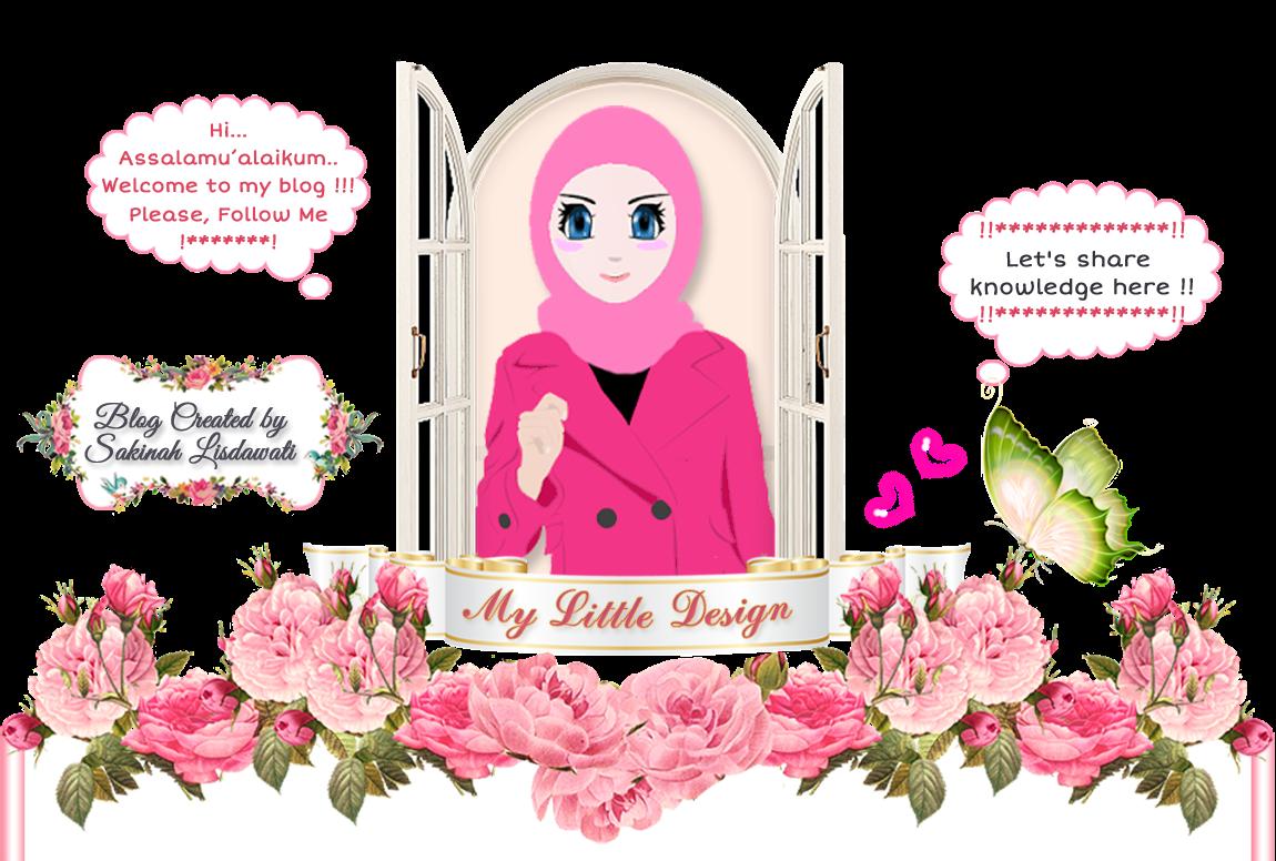 Litte Design Ii Kartun Muslimah Berkacamata Foto
