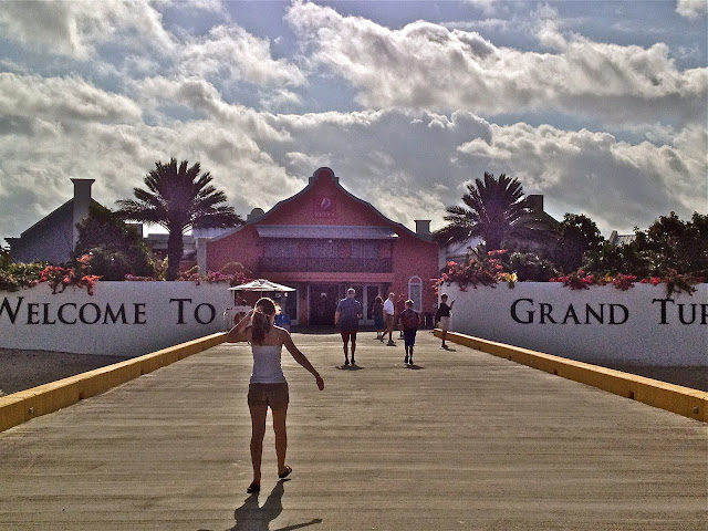 Entering Grand Turk in the Caribbean there is a sign that says Welcome to Grand Turk