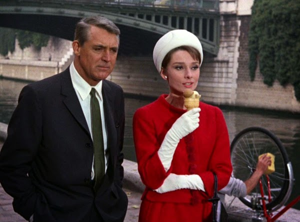 Image result for grant and hepburn in charade