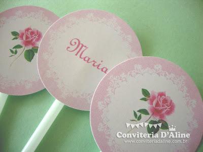 decoração festa jardim rosa