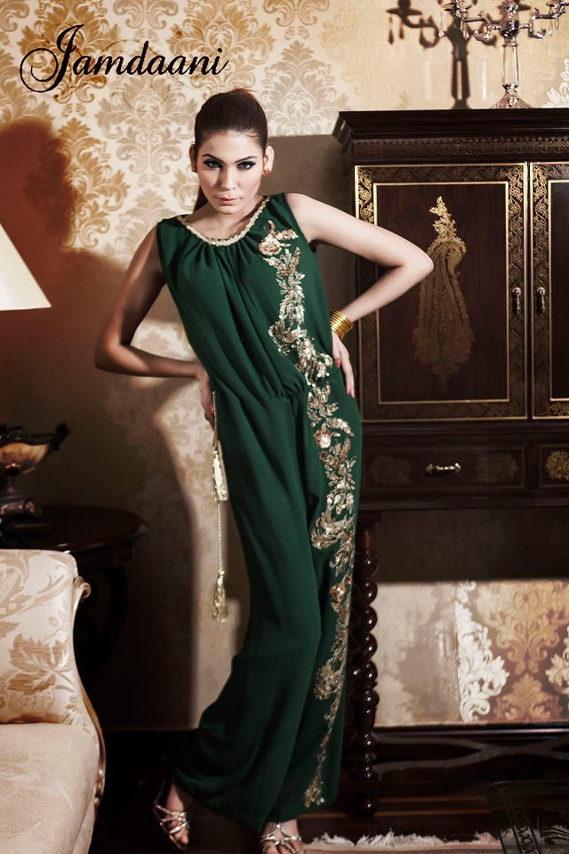Party Wear Stylish Dress 2013-14 For Ladies by Jamdaani