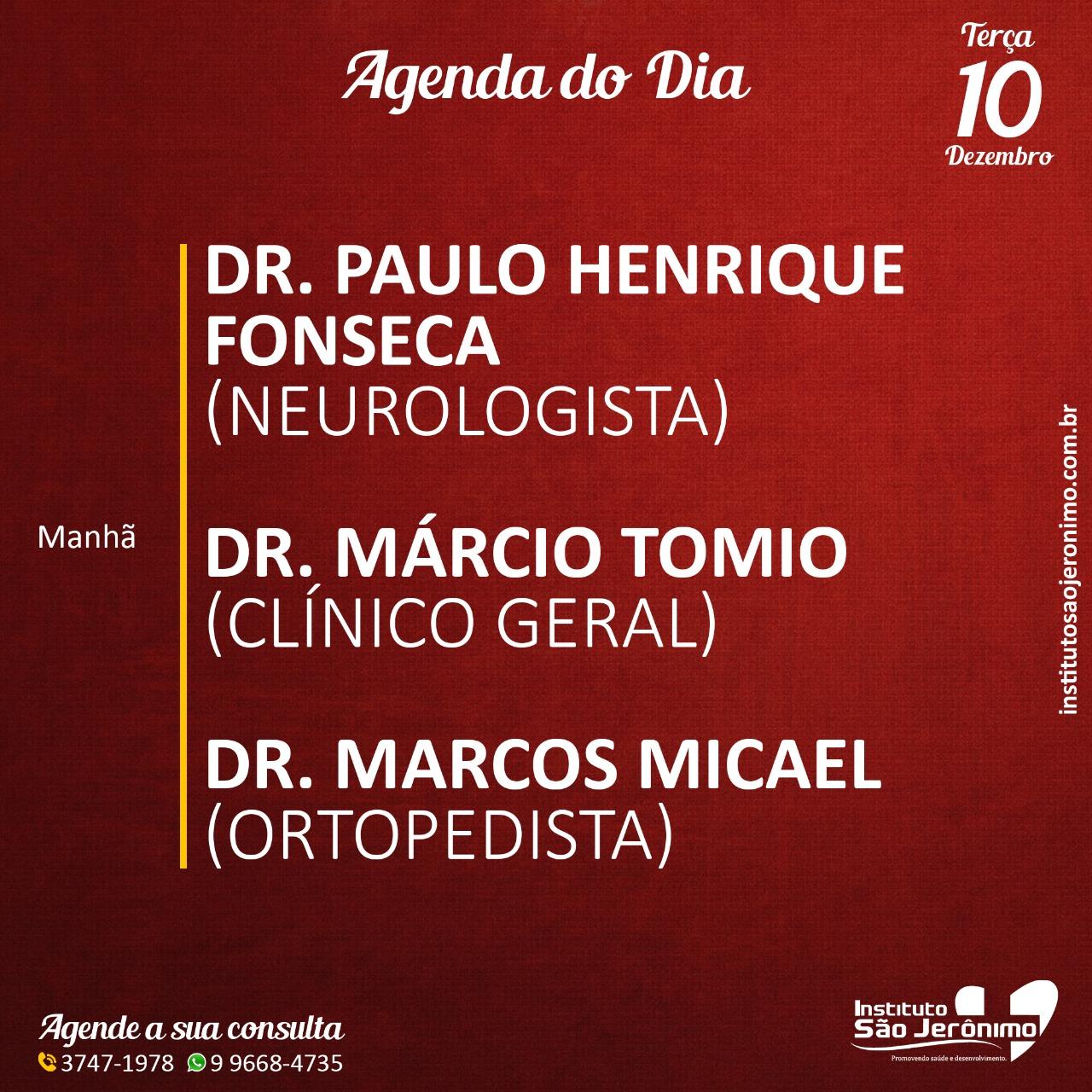 Agenda do Dia, Instituto São Jerônimo