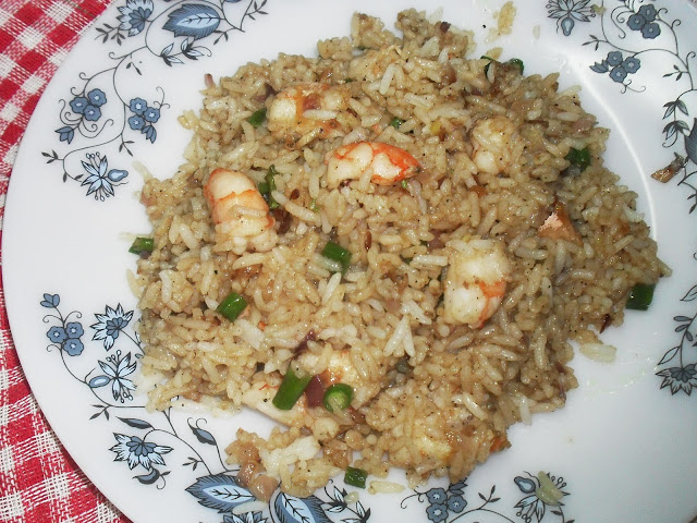 Prawn Rice cooked in Microwave