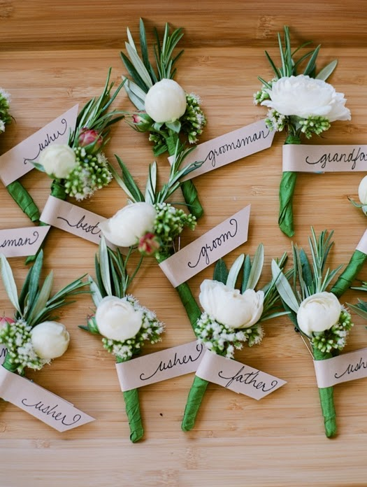 corsage, märka corsage, boutonnieres, boutonnieres tag
