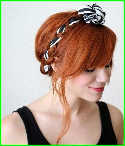 8 Haar Tutorials mit Haarspange oder Schal