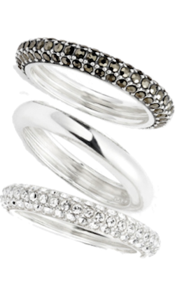 Judith Jack set of  Stack rings