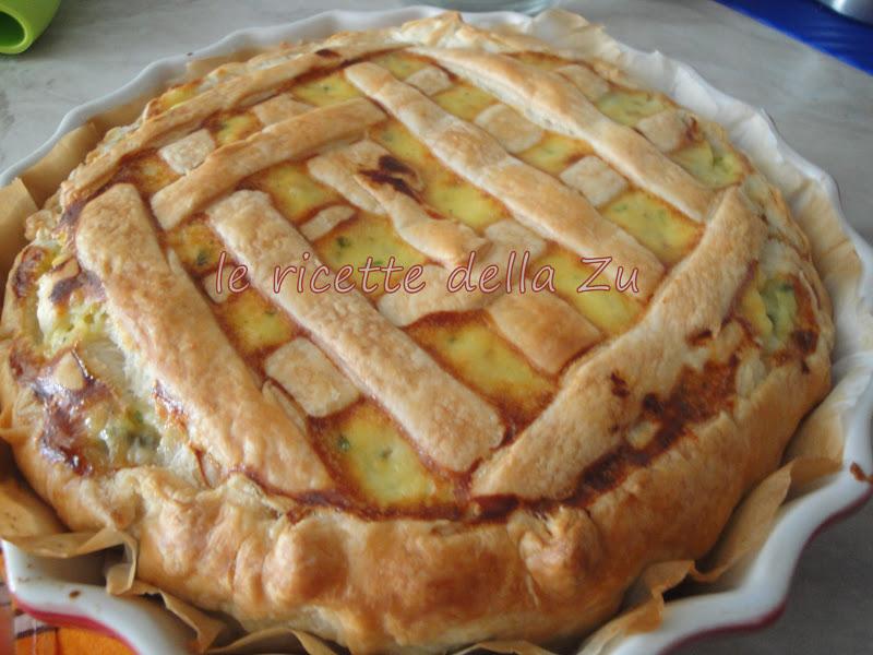 Le ricette della zu torta salata con patate gorgonzola e for Torte salate con pasta sfoglia