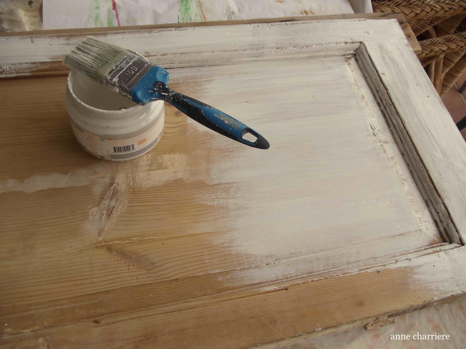 anne charriere blog de bricolaje y tecnicas de pintura en piezas de madera con objetos. Black Bedroom Furniture Sets. Home Design Ideas