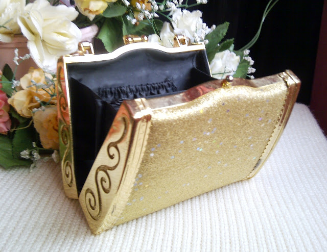 A beautiful Golden Bridal Clutch