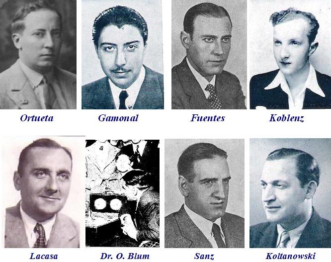 Ajedrecistas participantes en el Torneo Internacional de Ajedrez del Madrid F.C. 1936