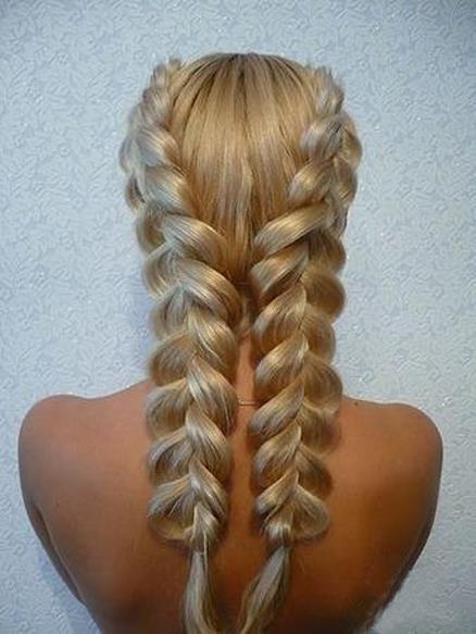 Фото прически для длинных волос колоски