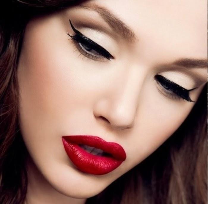 μακιγιάζ,μάτια,cat eyes,κόκκινα χείλη