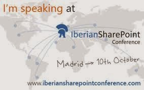 I'm speaking at Iberian SharePoint Conference