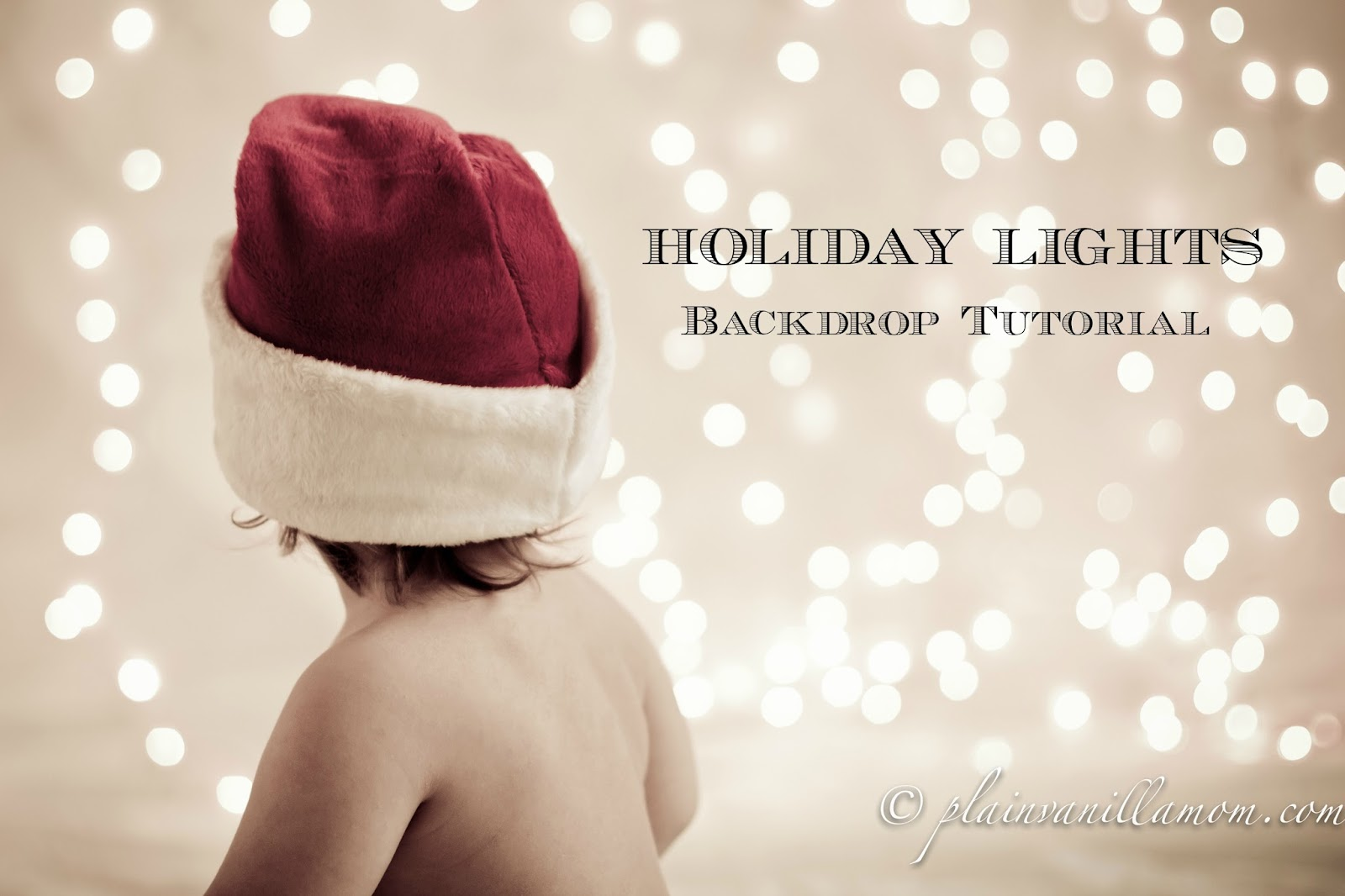 Photography tutorial christmas decorations