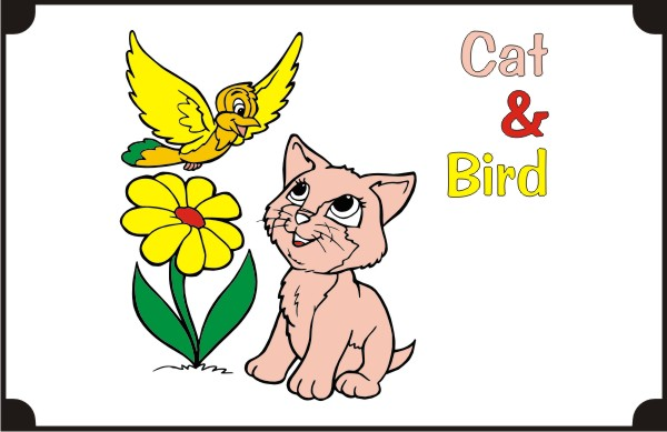 cat_and_bird-coloring-pages