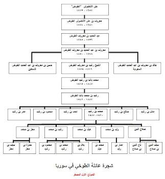 شجرة عائلة الطوخي في سورية