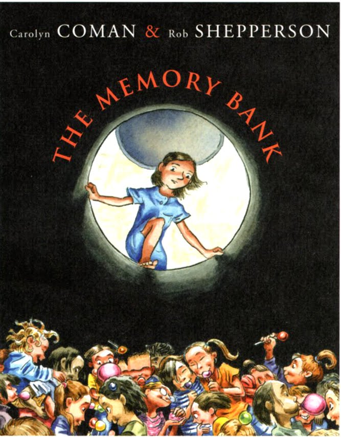 Hardcover Young Adult Illustrated Novels. The Memory Bank by Carolyn Coman.