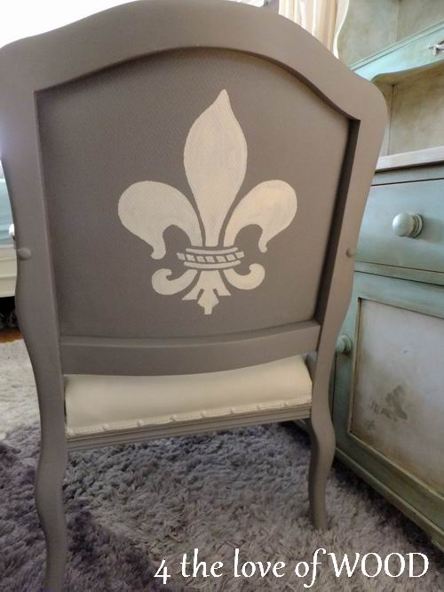 French Fabric Chair Painted