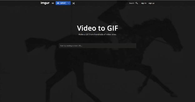 Imgur y su aplicación video to gif.