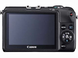 Canon Eos M2 Mirrorless Digital Camera rear