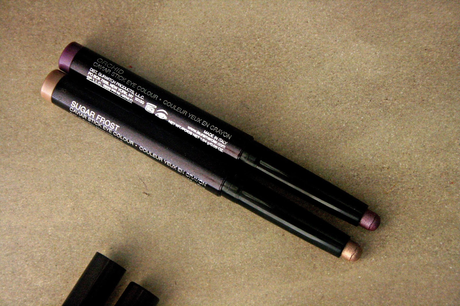 Laura Mercier Caviar Stick Eye Colors in Orchid & Sugar Frost Spring 2013