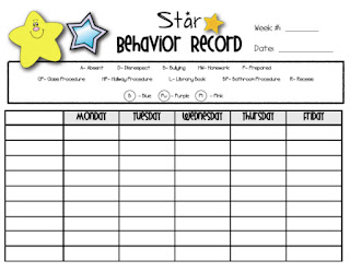 Mrs. Heeren's Happenings: STAR Behavior System