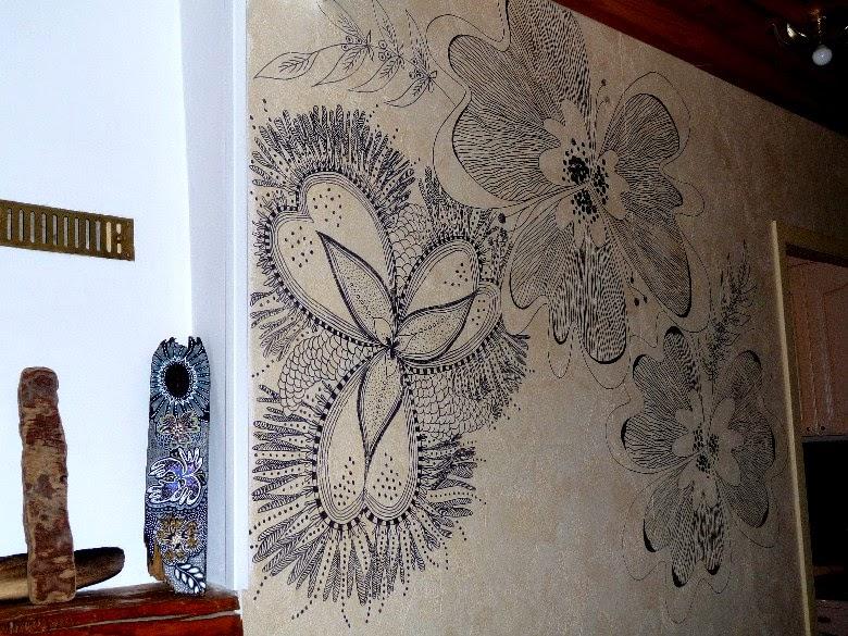 Nanouanne progression du dessin mural for Dessin mural peinture