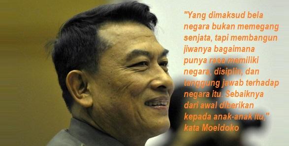 Mantan Panglima TNI Jenderal TNI (Purn) Moeldoko - Mantan Panglima TNI Dukung Program 100 Juta Kader Bela Negara