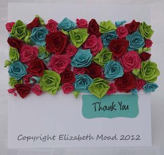 folded paper roses Elizabeth Moad