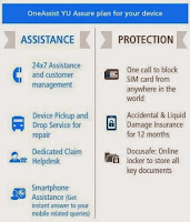 OneAssist YU Assure Accidental Damage and Liquid Damage Protection for Yureka Mobile for Rs.365