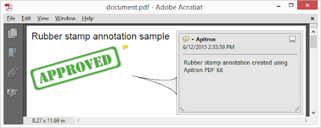 Pic. 6 Standard Rubber Stamp annotation added on PDF page