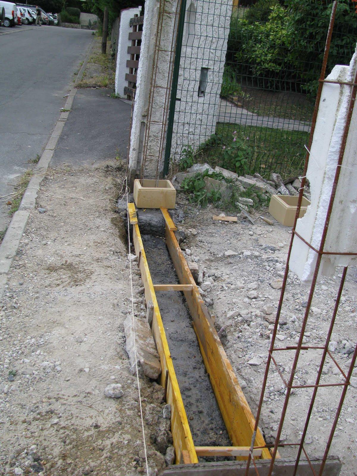 Je fais construire ma maison octobre 2012 - Fondation portail coulissant ...