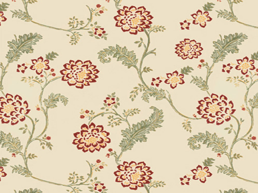 Vintage flower pattern wallpaper