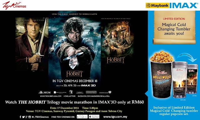 Hobbit Trilogy Marathon Malaysia TGV IMAX 3D